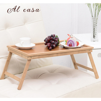 Laptop Table Portable Notebook Computer Desk Small Coffee Desk In Bed Snack Table Uncoated Tea Tray