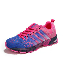 Running Shoes Woman 2019 Spring/Autumn Lace-up Mesh Sneakers Breathable Sports Shoes High Quality zapatillas mujer Women Shoes цена