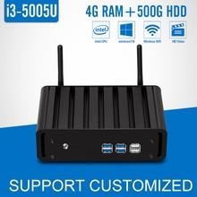 5Gen Core i3 5005U Mini PC 4 г Оперативная Память 500 г HDD + 300 м Wi-Fi Windows 7/8 /10 Micro Desktop Co M puter HD Graphics 5500 4 К HTPC