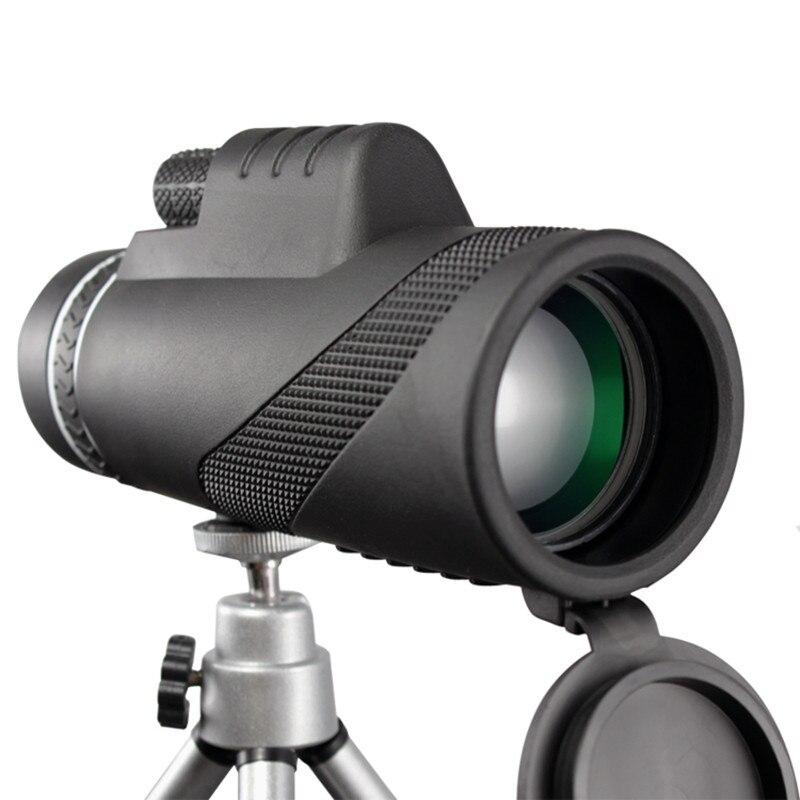 Puissance Monoculaire 40x60 Jumelles Zoom Télescope Tenu Dans la Main Jour Vision Nocturne HD Professionnel Chasse Télescope avec Trépied Clip