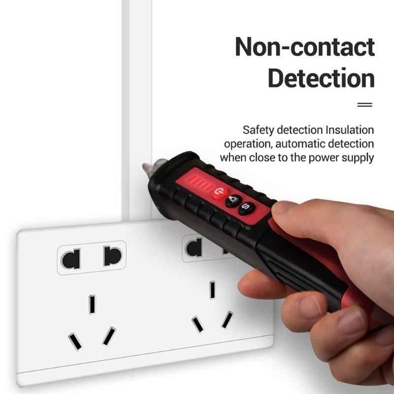 Multi-Function AC 12V~1000V Non-contact Induction Test Pencil Electrical Tester Sound/Light Alarm Voltage Detector With Flashlig
