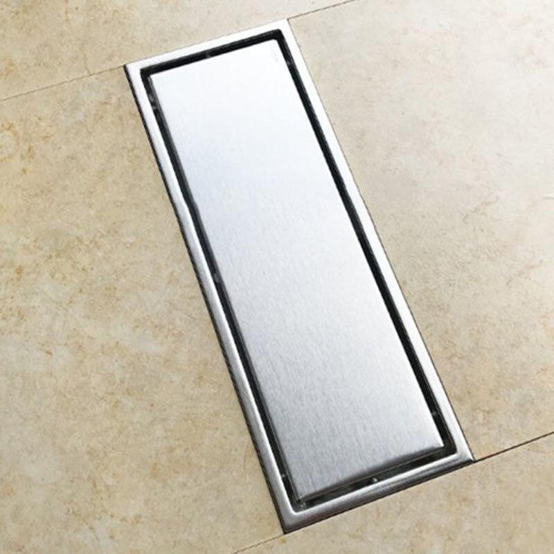 Acier inoxydable plancher douche salle d'eau salle de bain Drain cheveux salle de bains Drain de sol grille de vidange accessoires de salle de bains