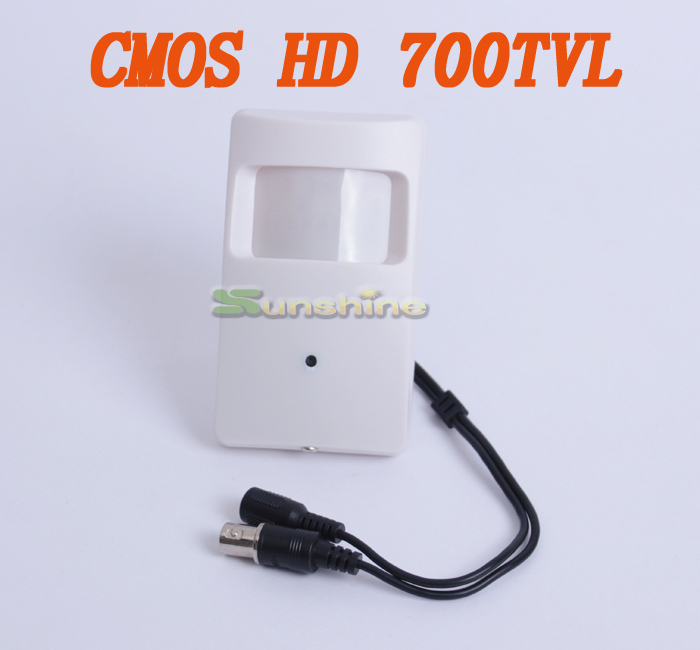 HD CMOS 700TVL 3.7mm Lens Security Indoor Mini PIR Shell Surveillance Camera CCTV Camera 960h 700tvl cmos security indoor cctv mini pir style 3 7mm lens surveillance camera
