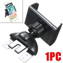 Portable Universal Adjustable Black Car Phone Holder Black Car CD Slot Air Vent Mount Stand Bracket Support For Xiaomi Huawei цена