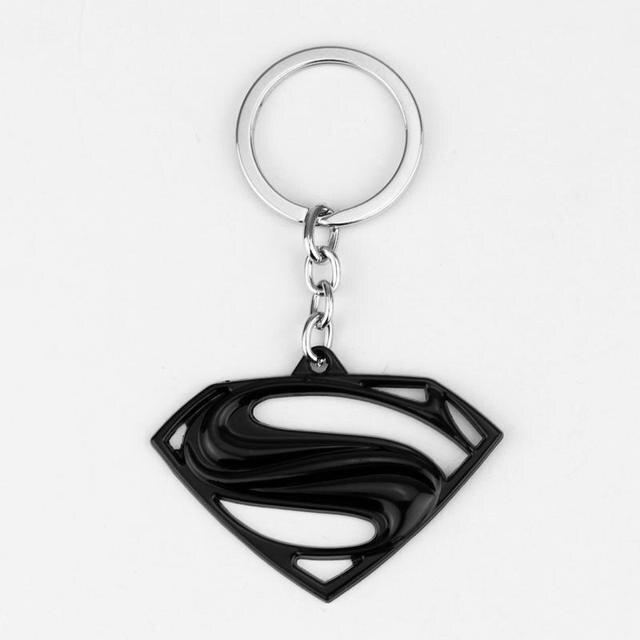 MQCHUN Marvel super-héros les Avengers série Moives thème Superman Logo porte-clés Chaveiro porte-clés clés bibelot porte-clés chaînes