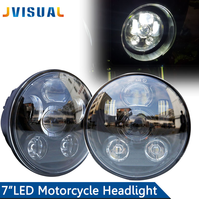 RGB Round 7 Inch LED Headlight H4 H13 Angel Eye Hi-Lo 12V 24V For Jeep Wrangler Land Rover Lada Niva 4x4 Off-Road Motorcycle co light 105w round 7 inch led headlight h4 h13 angel eye hi lo drl 12v 24v for jeep wrangler land rover lada niva 4x4 off road