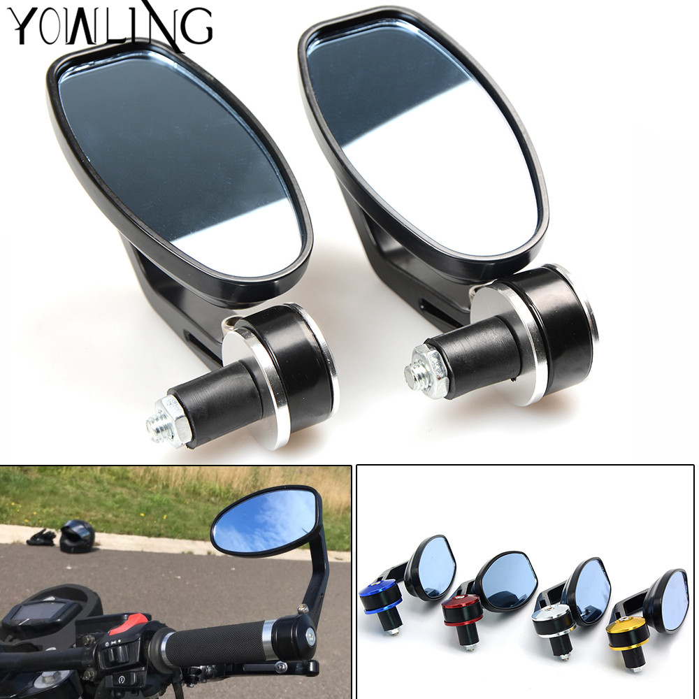 NEW Universal Motorcycle Moto Scooter Racer Rearview Side View HANDLE BAR END Mirror for harley touring ktm kawasaki z800 z750