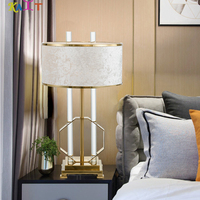 Gold Desk Lamp LED Table Lamp with Clip Touch Dimmable Reading Night Light