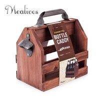 Барный инструмент из нержавеющей стали открывалка для бутылок пива Смешные деревянные винные корзины пивные Caddy