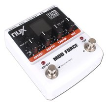 NUX MOD Force Signal Processor Guitar Effects Pedal 12 Modulation Effects 2 Input Stereo