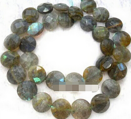 DYY Xmm Natural Labradorite Flat Round Faceted Loose Beads - How to create a commercial invoice online bead stores