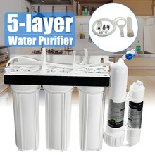 5 Stage Water Purifier Three Filter Core Countertop Faucet Ceramic And Compressed Activated Carbon Filters Home Purifier