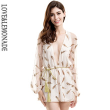 Love & Lemonade V คอทองเลื่อม Feathers Playsuits TB 9316(China)