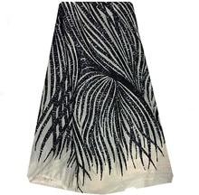 DP17-4African verkauf net und pailletten spitzenstoffe, Hochwertige Französisch spitze stoff, Schwarz schöne spitze mode!