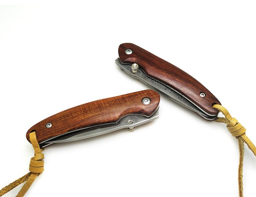 Купить с кэшбэком BGT Handmade Camping Folding Knife 8CR18MOV / 9CR18MOV Blade Wood Handle Hunting Tactical Fruit Pocket Knives EDC Utility Tools