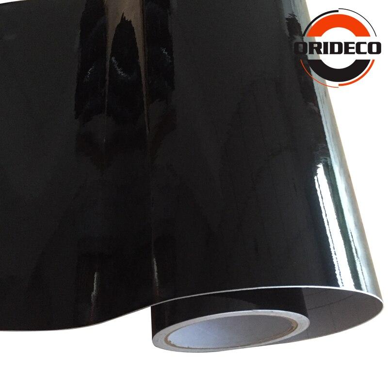 1.52*5/15/20/30 M haute brillance noir vinyle Wrap voiture Wrap avec bulle d'air brillant noir vinyle Ultra brillant Wrap Film - 4