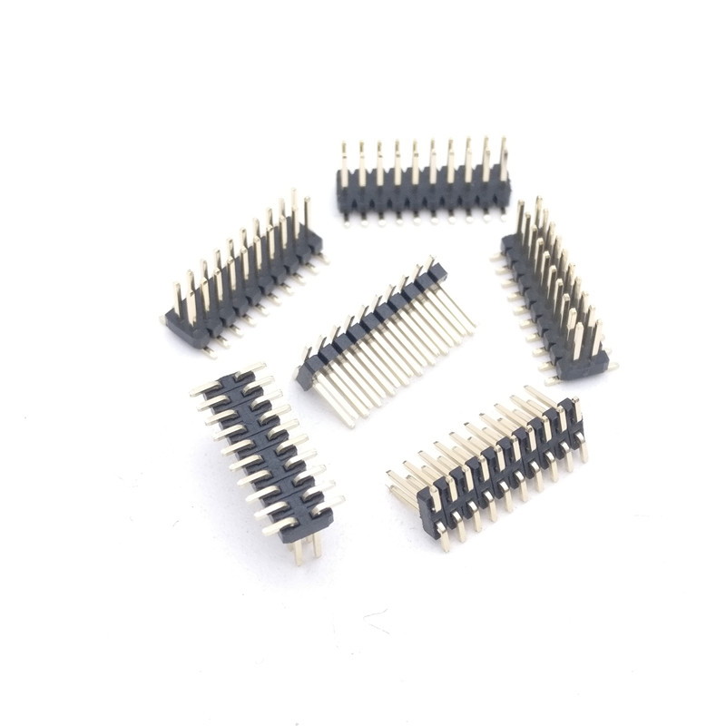 Big Discount ! SMD 1.27mm Pitch Pin Gold-plated Double-pin 2x10P 1.27mm Dual Row Pin Header SMT 2*10P Connector