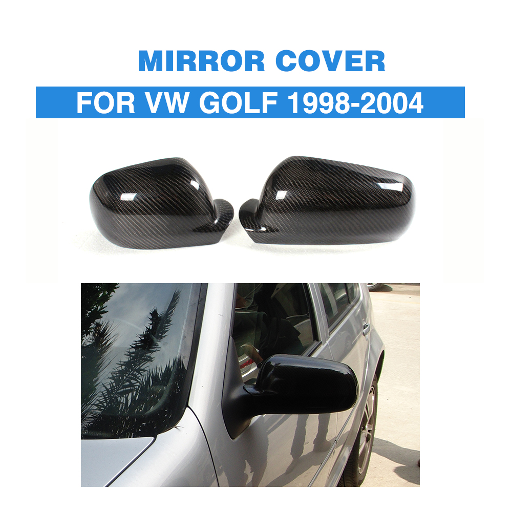 Carbon Fiber Side Mirror Covers Caps For Volkswagen VW Golf MK4 1998 - 2004 Add on style Rearview Mirror Caps Car Styling f10 side wing rearview mirror cover caps for bmw sedan 11 13 carbon fiber