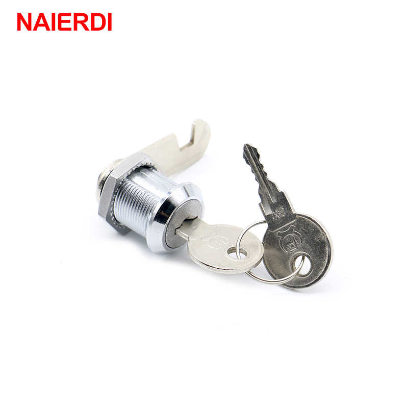 NAIERDI Cam Cylinder Locks Door Cabinet Mailbox Padlock Drawer Cupboard Box Lock With Iron Key For Furniture Hardware 103 Series