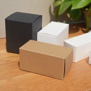 50 pçs/lote 20 tamanhos disponíveis 3 cores kraft preto branco caixas de papelão embalagem chá café dobrável simples artesanal caixa sabão