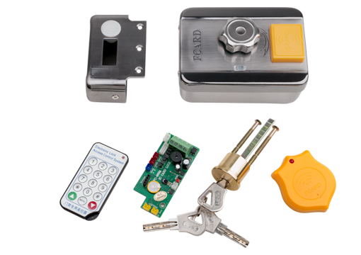 FCL-918E direct factory   RFID Access Control System Kit Frame Glass Door Set+Electric Bolt Door Lock+ID Card Keytab+Power Suppl fcl 300a wooden glass anti fire bi directional door 500 000 times reliable power on lock electric bolt lock