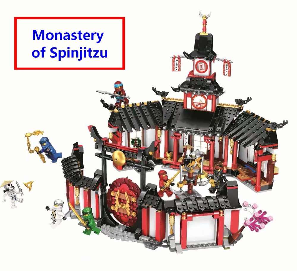 Hot sale Ninjagoe Monastery of Spinjitzu Building Blocks Model Kit Bricks Compatible With lego Ninja 70670 Toys Gift For KIDS