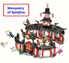цена на Hot sale Ninjagoe Monastery of Spinjitzu Building Blocks Model Kit Bricks Compatible With lego Ninja 70670 Toys Gift For KIDS