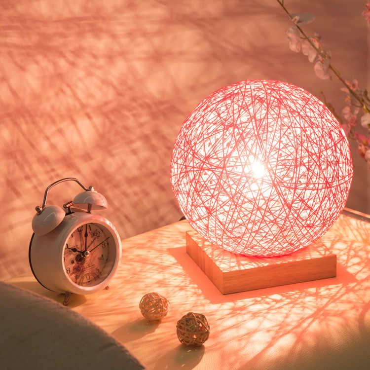 Sepak Takraw Proteger A Visão de Madeira Lâmpada de Mesa moderna Para O Quarto Casa Sala de estar Decoração Da Lâmpada de Cabeceira