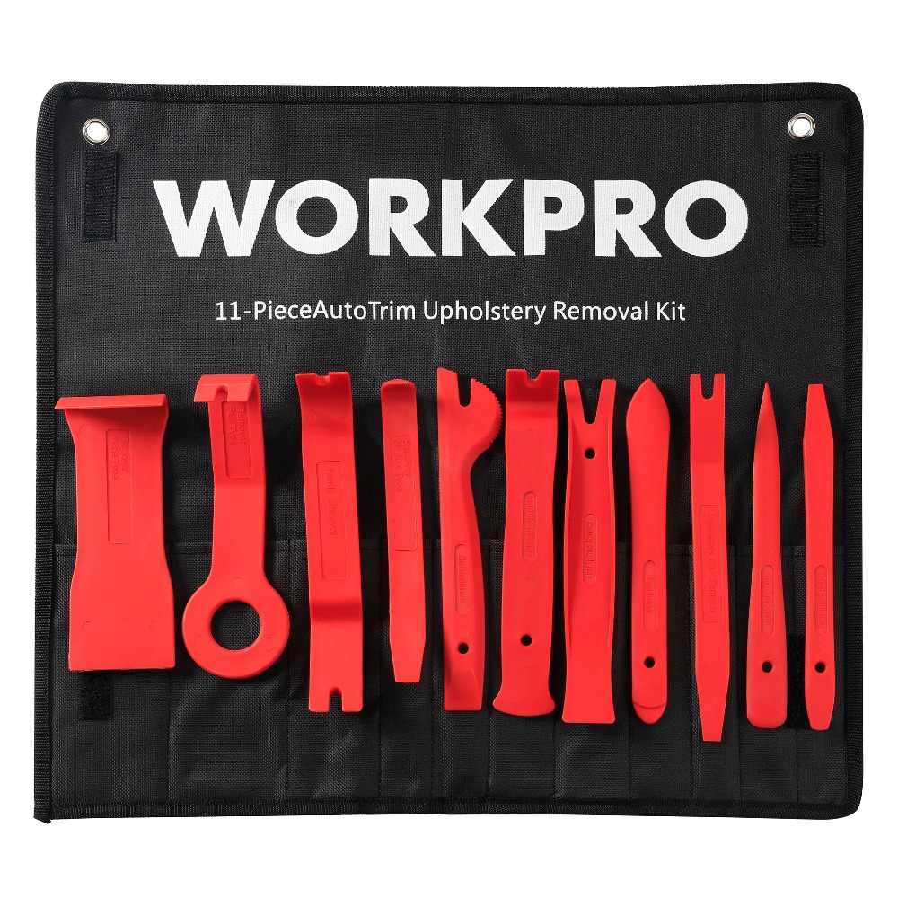 WORKPRO 11PC Car Upholstery Removal Kits Pry Bar Set Auto Interior Radio Panel Door Clip Windows Trim Removal Installer