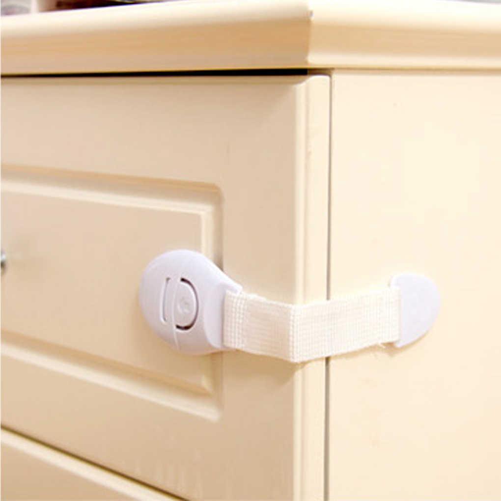 10pcs//Lot Drawer Door Cabinet Cupboard Safety Locks Baby Safety Plastic Lock X5