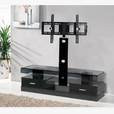 Cantilever Tv Stand Plasma Mount Furniture Modern Black Gl
