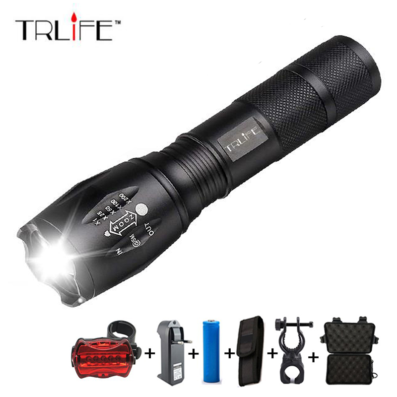 8000 Lumens 5Modes T6 LED cycling Front/Rear Light Bike light Lamp Torch Waterproof ZOOM Flashlight By 18650 battey for Riding8000 Lumens 5Modes T6 LED cycling Front/Rear Light Bike light Lamp Torch Waterproof ZOOM Flashlight By 18650 battey for Riding