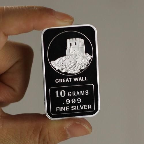 USMC Marine Corps Design Lot of 10 Military NEW!! 1 gram .999 Fine silver bar