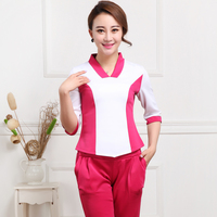 Beautician Clothing Autumn And Winter Suit Foot Store Technician Uniform SPA Worker Suit
