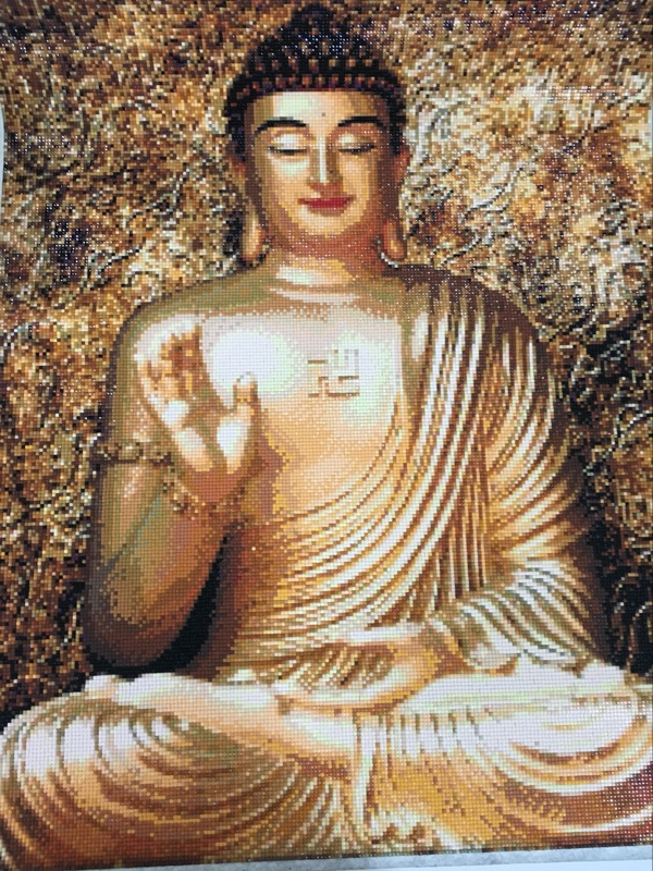 Aliexpress.com : Buy DIY Diamond Paintings Buddha Embroidery Needlework  Wall Paintings Living Room Full Diamond Paintings From Reliable Diamond  Painting ...