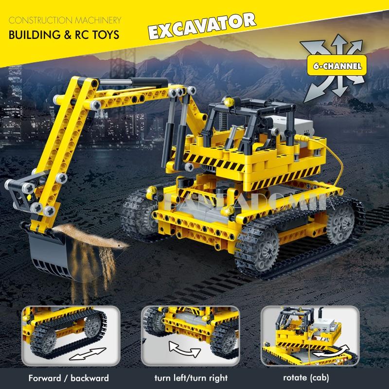 Remote Control Crane 712Pcs Building Blocks Educational Toys Construction RC Toys for Children Bricks Compatible Brick Technic