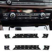 Автомобильный Стайлинг консоль кондиционер Замена кнопки украшения для BMW F10 F18 F06 F07 E70 E71 F25 F26 аксессуары для интерьера