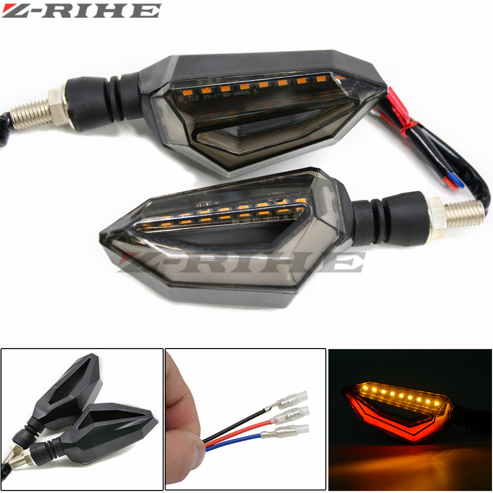 Motorcycle Turn Signal LED blinkers flashing lights led flashers for Kawasaki NINJA 250R Z125 NINJA 300r ZX6R/636 ZX10R Z750R