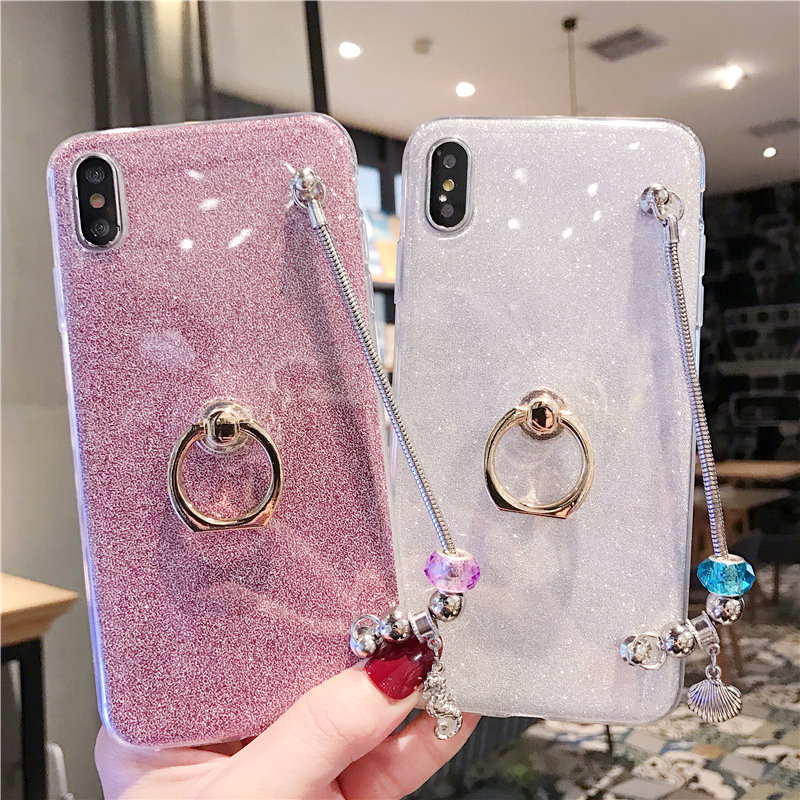 Glitter Finger Ring Case For <font><b>Huawei</b></font> <font><b>Mate</b></font> <font><b>20</b></font> Pro <font><b>Mate</b></font> 10 <font><b>Lite</b></font> G10 <font><b>Mate</b></font> 9 Pro GR3 2017 DIY Bling Luxury Covers Protective Bumper image