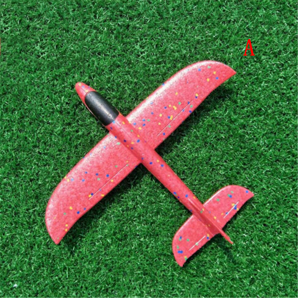 1PCS Hand Throw Foam Plane Toys Outdoor Launch Glider Airplane Kids Gift Toy Free Fly Plane Toys Puzzle Model Jouet