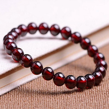 yu xin yuan natural garnet hand chain bracelet with round beads of the lady women bracleets