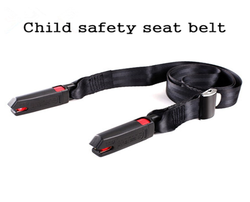 Black Double Buckle ISOFIX Interface Child Adult Parts Protection Regulator Car child safety seat Belt protection
