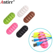Multipurpose 5 slot Strip Desktop phone Cable Winder Earphone clip Charger Organizer Management Wire Cord fixer Silicone Holder 20pcs pack self adhesive wire organizer line cable clip buckle plastic clips ties fixer fastener holder