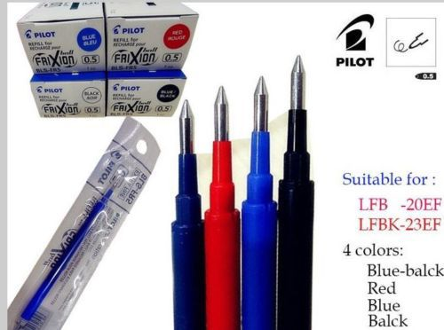 Pilot FriXion Erasable Marker Retractable Gel Pen 0.5 mm BLUE LFBK-23EF-L
