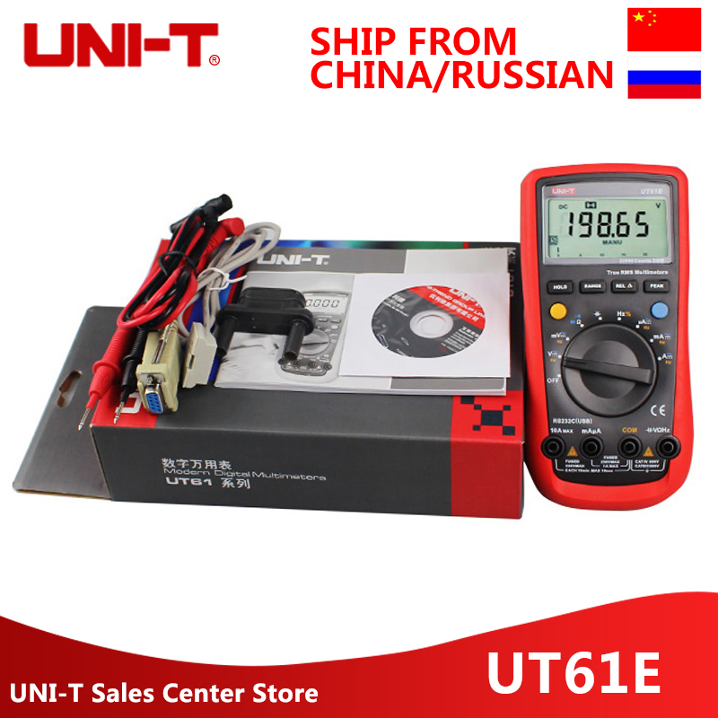 UNI-T UT61E Digital Multimeters 22000 Counts True Rms Digital Multimeter Peak value RS232 REL AC DC amperemeter uni t ut61e digital multimeter auto range true rms peak value rs232 rel ac dc amperemeter uni t ut 61e multimeter