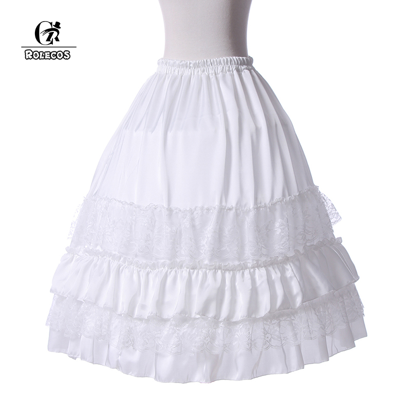 ROLECOS New Arrival Underskirt For Lolita Dress V Dress Cheap White Underskirt Wedding Accessories For Brial Ball Gown