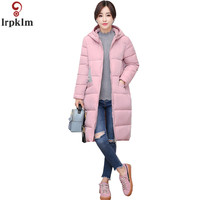 XL 4XL Women Large Size Down Cotton Jacket Warm Parkas Winter Woman 2018 Mid Long Section Female Hooded Leisure Outwear CH417