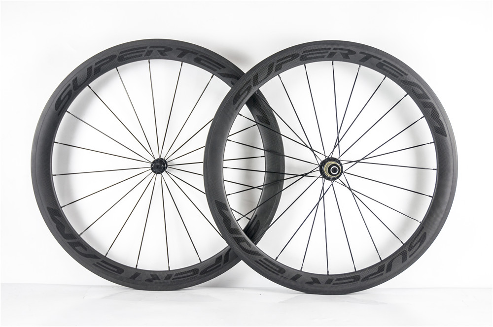 700C 50mm Road Bike Wheels Clincher Road Bicycle Wheels Carbon Wheelset