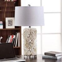 현대 램프 쉘 테이블 램프 거실 침실 램프 음영 침대 옆 디자인 책상 빛 E27 장식 밤