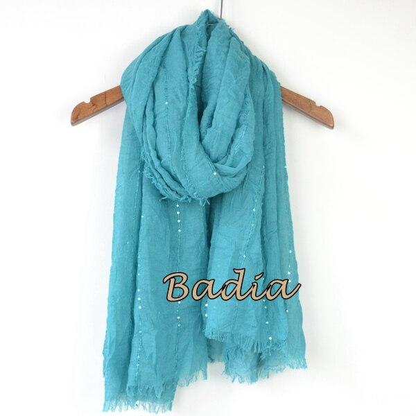 Однотонный Простой Большой рекламный женский шарф, блестящий Блестящий шарф, шаль, большой летний шарф - Цвет: blue